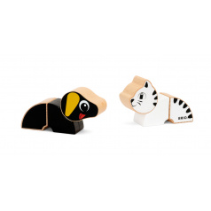 Brio Magnetická zvířátka kočka a pes