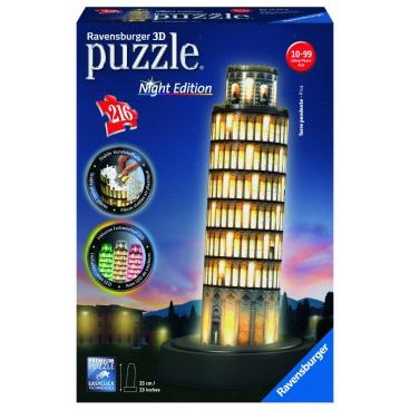 Ravensburger 3D puzzle Pisa (Noční edice) svítící 216 dílků