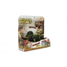 Teddies Dinosaurus plast 23-25cm na baterie se zvukem a světlem 2druhy v krabici 24x25x9cm