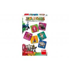 Dino Pexeso 48 Zafari společenská hra v krabičce 18x11,5x3,5cm