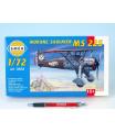Směr model letadla Morane Saulnier MS 225 1:72 9,2x15,4cm v krabici 25x14,5x4,5cm