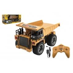 Nákladní auto RC kov/plast 28cm na baterie se světlem v krabici 41x18,5x17cm