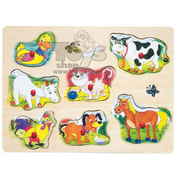 Woody 90330 Muzikální puzzle - domácí zvířata