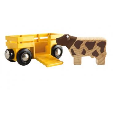 BRIO 33406 Vagón s kravičkou