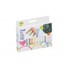 Teddies Kriedy tabuľové 8cm farebné 24 ks v krabičke 12x10x2cm