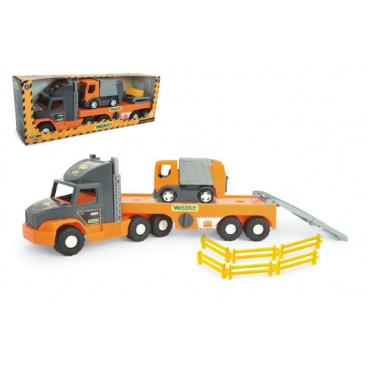 Wader Auto nákladní Super Tech Truck návěs 78cm + auto popelář 24cm plast v krabici 78x28x20cm
