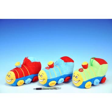 Teddies Vlak plyš 20cm na baterie se zvukem asst 3 barvy 0+