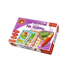 Trefl Malý objevitel Na venkově + kouzelná tužka edukační společenská hra v krabici 33x23x6cm