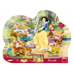 Dino dětské puzzle Disney WD Sněhurka 25D kontura