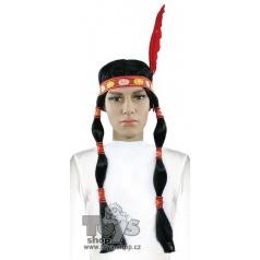 Karnevalová paruka indiánská