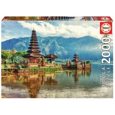 EDUCA 17674 Puzzle 2000 dílků - Chrám Ulun Danu
