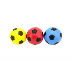 Teddies Loptička futbal guma 12cm 6 farieb v sieťke