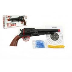Teddies Pistole na měkké a vodní kuličky o průměru 6mm v krabici 33x14x5cm