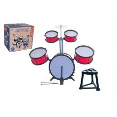 Teddies Bicí souprava/bubny plast 5ks s příslušenstvím v krabici 42x40x32cm