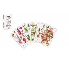 Hrací karty, s.r.o. Mariáš MINI dvouhlavý společenská hra karty 32ks v papírové krabičce 5x7cm