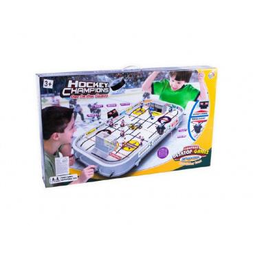 Teddies Hokej společenská hra 96x58x12cm plast kovová táhla bez počítadla v krabici