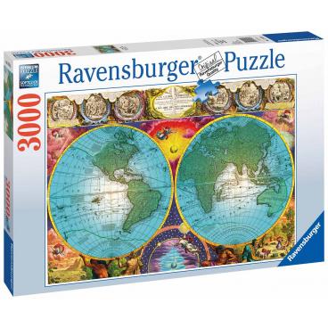 Ravensburger puzzle Antická mapa 3000 dílků