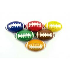 Míček na rugby pěna 13cm asst 6 barev