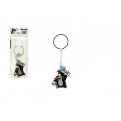 teddies Kovový přívěšek Krtek s lopatkou na klíče 5cm v sáčku