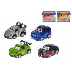 Mikro Trading Auto sportovní kov 7cm zpětný chod asst 6 druhů v krabičce