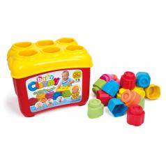 Clementoni Clemmy baby - Prostrkovací kyblík s 18 kostkami