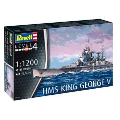 Revell Plastic ModelKit loď 05161 - HMS King George V (1:1200)