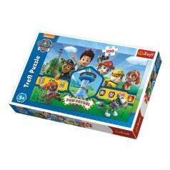 Trefl Puzzle Paw Patrol/Tlapoková patrola 100 dílků 41x27,5cm v krabici 29x20x4cm
