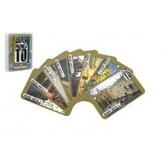 Hrací karty, s.r.o. Poznej to, známá místa 2, sousloví 1, společenská hra karty v plastové krabičce 9,5x12,5x2cm