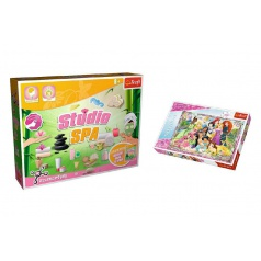 Trefl PACK Science for you Studio SPA 21 pokusů + Puzzle Disney Princezny 260 dílků v krabici 40x26x13cm