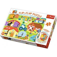 Trefl Puzzle s otvíracími okénky 36dílků - Farma