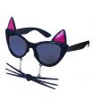 Rappa Karnevalové brýle kočka s vousy