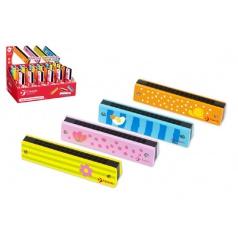 Teddies Harmonika Princess drevo 13x2,7x2,8cm asst 4 farby