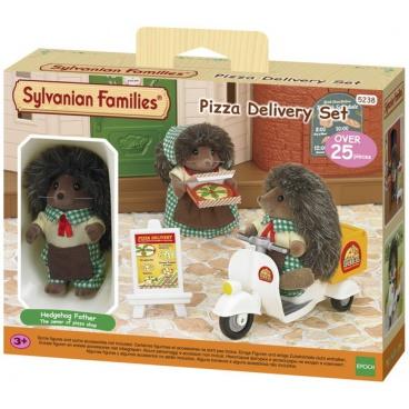 Sylvanian family 5238 Rozvoz pizzy s příslušenstvím a jednou figurkou