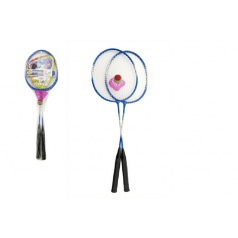 Teddies Badminton kov 2 pálky a 1 míček asst 3 barvy v síťce