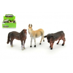 Zvířátka farma 12cm plast asst 6 druhů