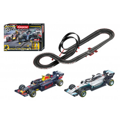 Carrera GO !!! 62524 Autodráha Racing Heroes 5,3m + 2 formule v krabici 58x40x10cm