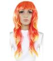Karnevalová paruka dlouhé vlasy, oranžová, pro dospělé
