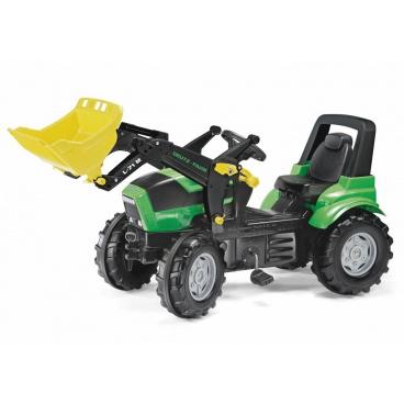 ROLLYTOYS Šlapací traktor Deutz Agrotron s nakladačem zelený