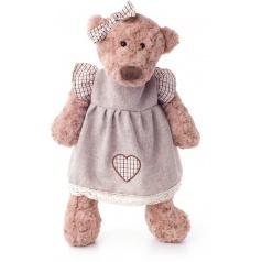 Lumpin Medvěd Lumpinka v šatech - režné, malá 33 cm
