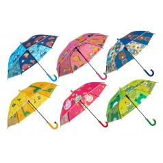Teddies Deštník vystřelovací 66cm kov/plast mix barev v sáčku