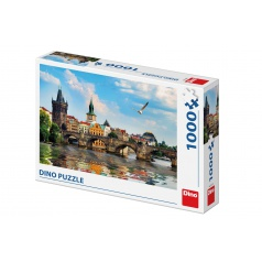 Dino Puzzle Karlův most 66x47cm 1000 dílků v krabici 32x23x7cm
