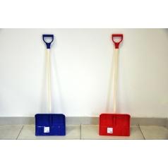 Lopata na vyhrňovaniu snehu s rúčkou plast/drevo 87cm asst 2 farby