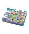 Trefl Puzzle zvířátka Gigantic Město 12ks v krabici 40x27x6cm 2+
