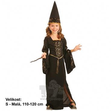 dětský kostým na karneval - Čarodějka 110-120cm