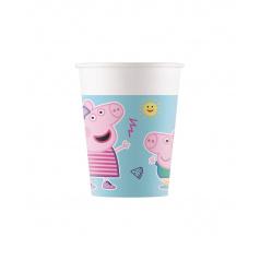 PROCOS Kelímky 200 ml Peppa Pig 8 ks ECO - rozložitelné