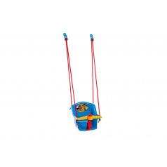 Teddies Houpačka Baby s pískátkem plast modrá nosnost 20kg  35x34x35cm