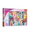 Trefl Puzzle Portréty princezen Disney 41x27,5cm 160 dílků v krabici 29x19x4cm