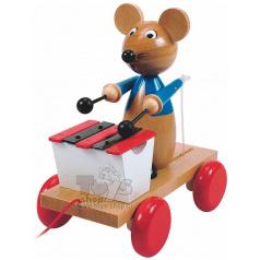 Woody Tahací myš s xylofonem