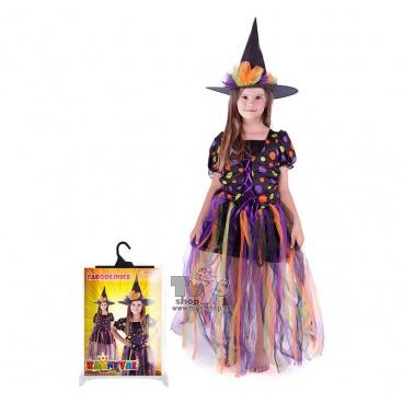 Dětský karnevalový kostým čarodějnice vel. M