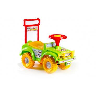 Teddies Dětské odrážedlo auto Jeep Yupee zelené